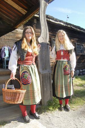 Wilma Nauman och Johanna Grip från Ytterhogdal.