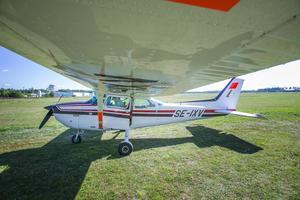 Flygklubben förfogar över två stycken cessnaplan.