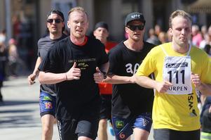 Ville Aaltonen och Markus Ståhl höll hyggligt tempo, Anders Spinnars hängde på.