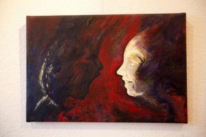 Johannes Nygren från Arvidsjaur närmar sig ett impressionistiskt uttryck på Gamla Tingshuset.