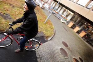 Staffan Hillsson är en 101 deltagare i Vintertramparna som syftar till att få fler människor att ta cykeln även på vintern. Foto: Håkan Luthman