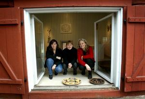 Så här såg det ut när Wadköpingsrummet öppnade 2003, med  Susann Pettersson, Kristin Rapp och Catarina Mårtenson.