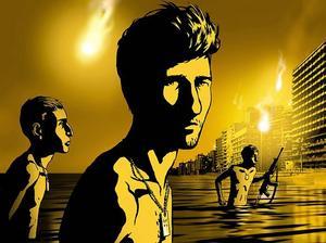 """Waltz with Bashir"". Israels Oscarsbidrag, delvis tecknad och surrealistisk."