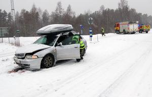 Det ena av fordonen som var inblandad i kollisionen.