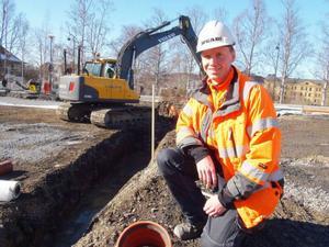 – Sen vet jag inte om det är rätt bostäder som byggs. Vad jag vet är att det är främst studenter som saknar och söker billiga bostäder i stan, säger Mattias Moxell på PEAB i Östersund.