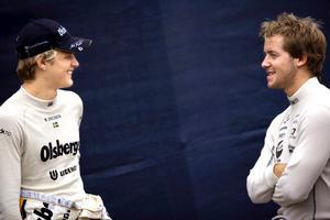 Marcus Ericsson och Sam Bird.