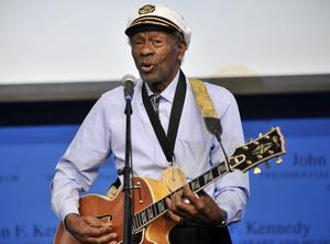 Chuck Berry belönas med årets Polarpris.   Foto: Josh Reynolds/AP/TT
