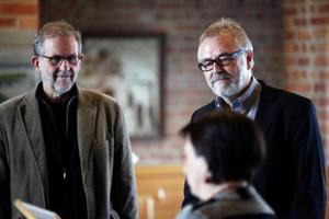 Carlo-Olof Tronje och Odd Larsson fick ta emot Östersunds kulturpris på onsdagen vid en ceremoni i Rådhuset.