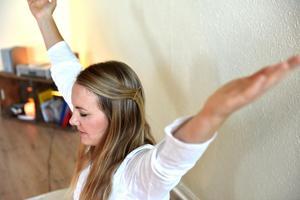 Linda Andersson berättar att ett pass yoga kan ge goda effekter flera dagar efteråt där man känner sig mer i balans.