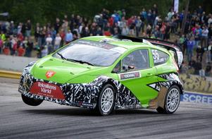 Alexander Westlund knep en finalplats i Super Car Lite och blev här sexa.