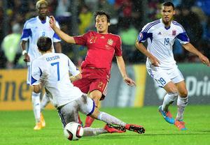 David Silva, Manchester City. Luxemburg–Spanien, EM-kval 12 oktober 2014, 0–4.         Gerson om David Silva: