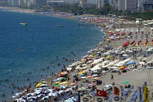 Konyaalti beach i Antalya.