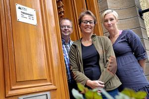 Kommunalråden. Tom Rymoen, Helena Vilhelmsson och Anna Magnusson avser att stanna i Tingshuset.