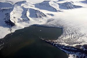 En glaciär på Svalbard.