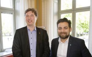 Tord Fredriksen (V), ordförande i omvårdnadsnämnden och Sergio Manzanares (S), vice ordförande i omvårdnadsnämnden.
