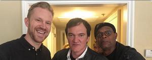 Erik Augustin Palm med Quentin Tarantino och Samuel L. Jackson.