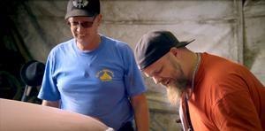 Jan Ingesson och Niclas Holmgren, två av medlemmarna i teamet Misty Racing som kommer att följas i den kommande CBS dokumentären om Folkrace.