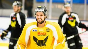 Chris Langkow kom till VIK i januari 2017. Men Kanadensaren lyckades aldrig göra något avtryck och Gulsvart åkte ur hockeyallsvenskan.