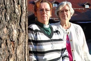 Rättviks församlings diakoner tillhör kommunens POSOM-grupp. Från Vänster Raili Karling Fors och Ewa Hall Aldegren