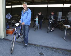 En helt ny cykel som aldrig är använd för 2 000 kronor, det kan man kalla ett klipp, säger Yngve Larsson.