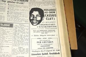 Annonsen utlovade en show av tidernas hittills störste i boxningsringen.