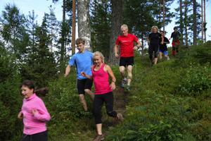 På måndag och fyra kommande måndagar kommer unga som gamla springa i terrängspåren kring Gagnef.