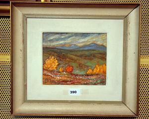 Ramundberget, oljemålning av Hilding Mickelsson.