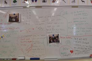 Elevernas hälsningar vittnar om vad skolan  i Trängslet betytt för dem.