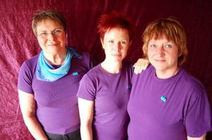 Helena Rosenberg, Erika Örn och Birgitta Bredesen jobbar på Rörelseverkstan med sina många behandlingar för kropp och själ.