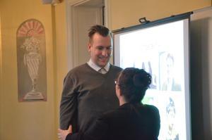 Aha-upplevelse. För Nicklas Salmin från Grythyttan var föreläsningen med Sophia Sundberg en aha-upplevelse, här att lära mingelteknik.