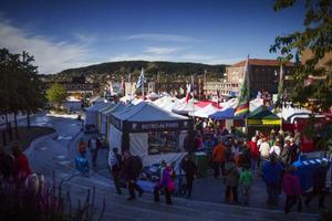 Stora delar av världen fanns under lördagen på Stortorget och lockade inte bara en utan väldigt många besökare att äta något annat än svenska köttbullar och lingonsylt.