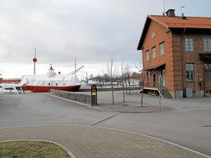 Tullhuset. Utbyggnaden är tänkt på gaveln.Foto: Yngve Fredriksson