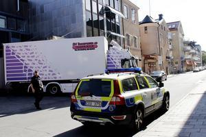 Det var efter moskégranskningen 2015 som polisen satte bevakning på Gefle Dagblads redaktion, efter att en släkting till imamen pratat om en bomb. Fotograf: David Holmqvist