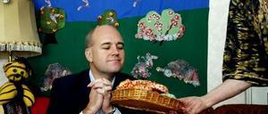 Statsminister Fredrik Reinfeldt besöker iffi i Gävle på nordost