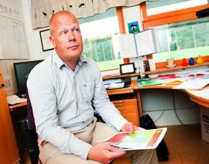 Rektor Stefan Fredriksson tar på sig en del av ansvaret för att arbetet för förbättrad arbetsmiljö har tappat fart.