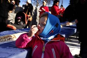 Maggie Eriksson, fyra år, hade fått följa med farfar till Vinterparken.