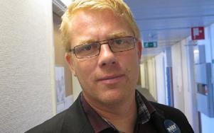 Rektor Johan Boberg på NTI- Gymnasiet i Falun tyckte temadagen mot rasism och utanförskap blev mycket lyckad. Foto: Roland Engvall