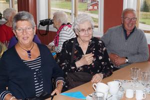 Karin Wikström, Lilly Linde och Göran Wikström besökte återvändardagen i Bobygden.