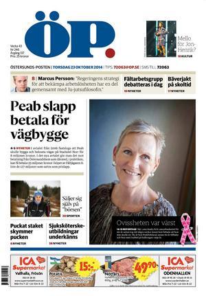 ÖP, torsdag 23 oktober 2014.