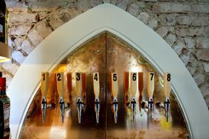 Öltapparna är numrerade och ölsorterna kommer att bytas ut emellanåt.