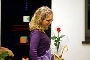 Foto: LASSE WIGERT Pristagare. Anna-Karin Westin fick på onsdagskvällen på Slottet i Gävle ta emot Agnespriset.