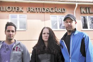 Hakim Korselius, Melina Brinley och Björn Hummelgård.