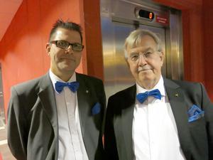Festfin i fluga – Staffan Gullsby, utvecklingsdirektör på landstinget, och Mats Törnquist, regiondirektör i Gävleborg,