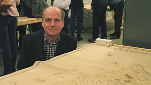 Enligt Björn Fahlén, världsarvsutvecklare på Falu kommun, är kartorna viktiga för Faluns framtida utveckling.