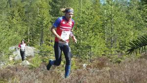 Topt tre i H18E går alla på OL-gymnasiet i Sandviken: från vänster Jesper Svensk, Stora Tuna OK, Isac Von Krusenstierna, OK Kåre och Simon Imark, Tullinge SK