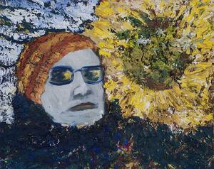 Solrosbländad, målning av Hans Wigert.