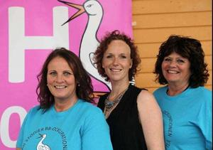 Marie Eriksson, Anne Hammerling och Kerstin Deivert arrangerade stödkonserten.