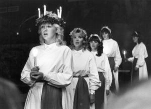 1982 var det Carina Henriksson, 20 år och från Strömsund, som blev Länets Lucia.