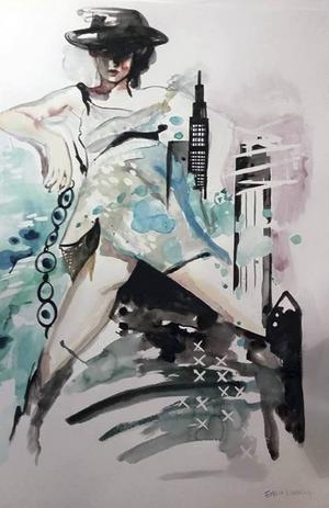 Akvarell av Emilia Lindberg.