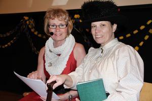 Rektor Britt-Marie Byström var konferencier och delade även ut Nobel-priset i ekonomi. Barnbibliotekarie Anette Helgesson delade ut priset i litteratur klädd som Selma Lagerlöf.